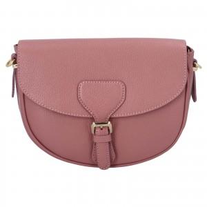 Dámska crossbody kožená kabelka Delami Nisca - ružová