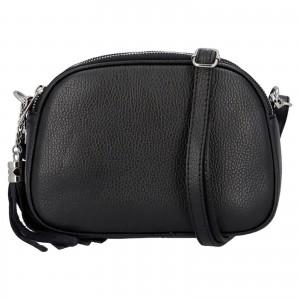 Dámska crossbody kožená kabelka Delami Beate - čierna