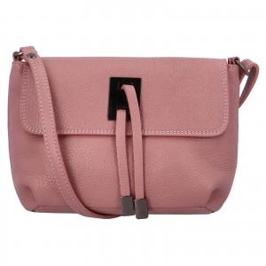 Dámska crossbody kožená kabelka Delami Salina - ružová