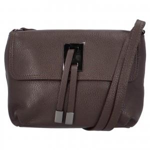 Dámska crossbody kožená kabelka Delami Salina - tmavo hnedá