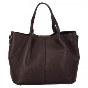 Dámska kožená kabelka Delami Verona - tmavě hnědá