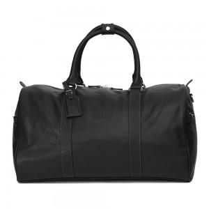 Pánská celokožená cestovní taška Hexagona Star - černá