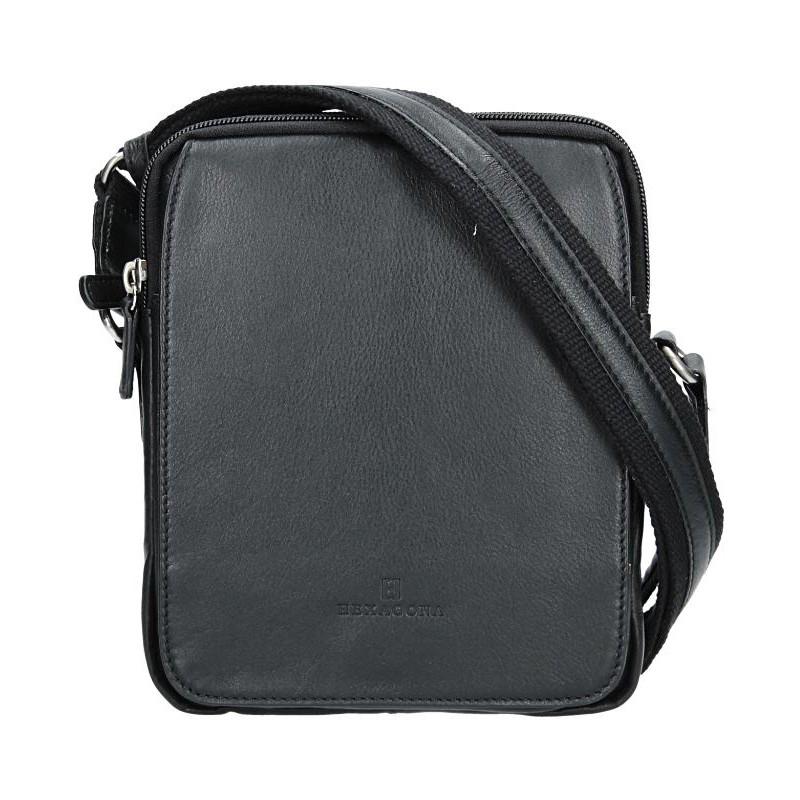 Pánska kožená taška na doklady Hexagona 463956 - čierna