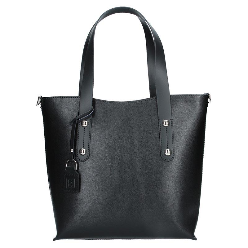 Dámska kožená kabelka Facebag Nina - čierna