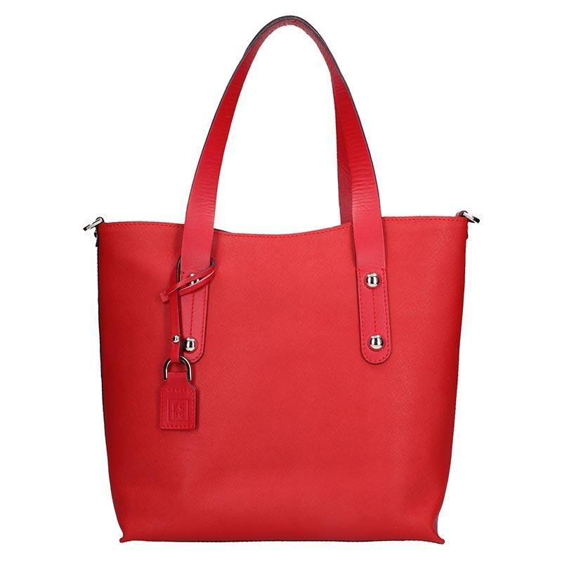 Dámska kožená kabelka Facebag Nina - červená.