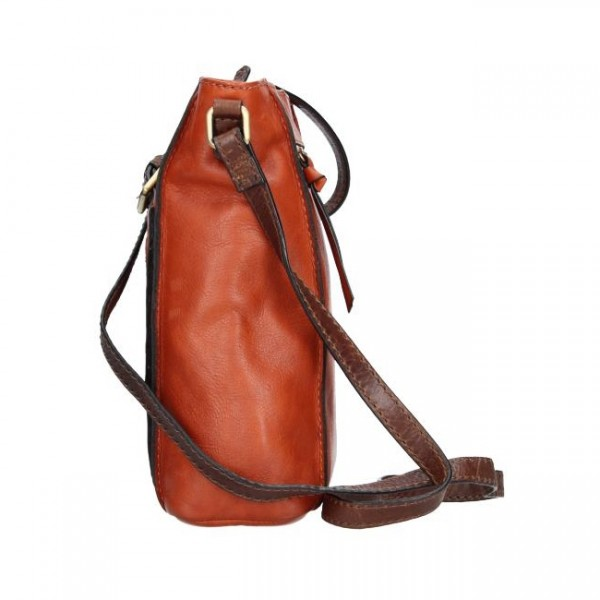 Dámska crosbody kabelka Lagen Paula - hnedo-oranžováá