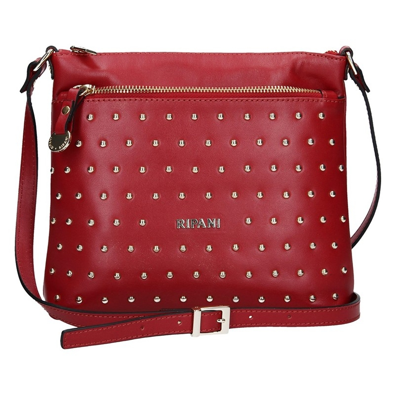 Dámska kožená kabelka Ripani Ember - červená