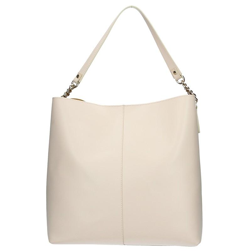 Dámska kožená kabelka Ripani Laura - béžová