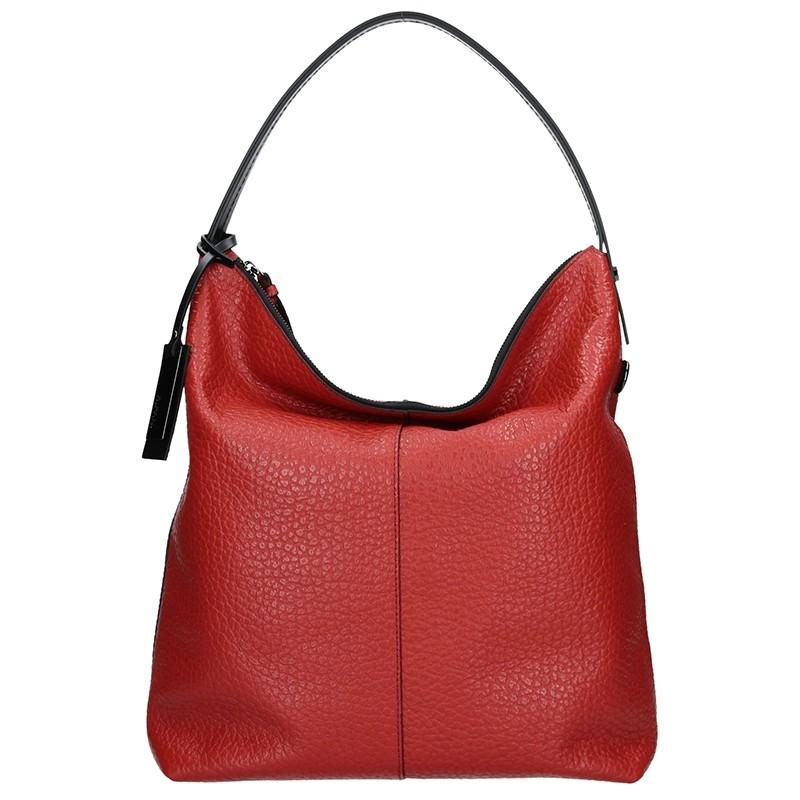 Dámska kožená kabelka Ripani Ghita - červená
