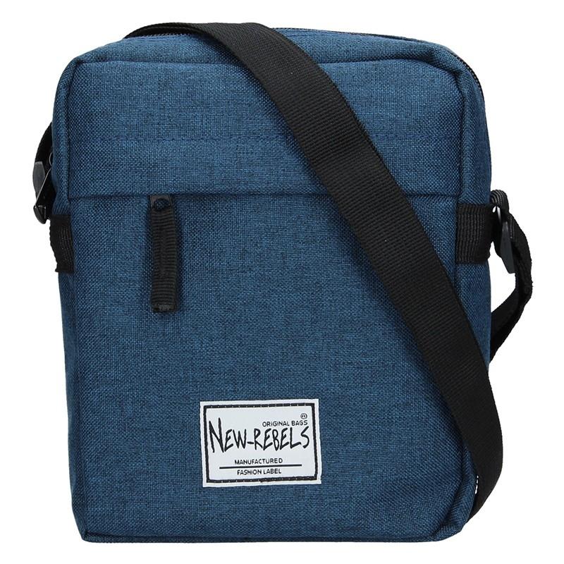 Pánská taška přes rameno New Rebels Luis - modrá