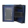 Dámska kožená peňaženka DD Anekta Hana - modro-čierna