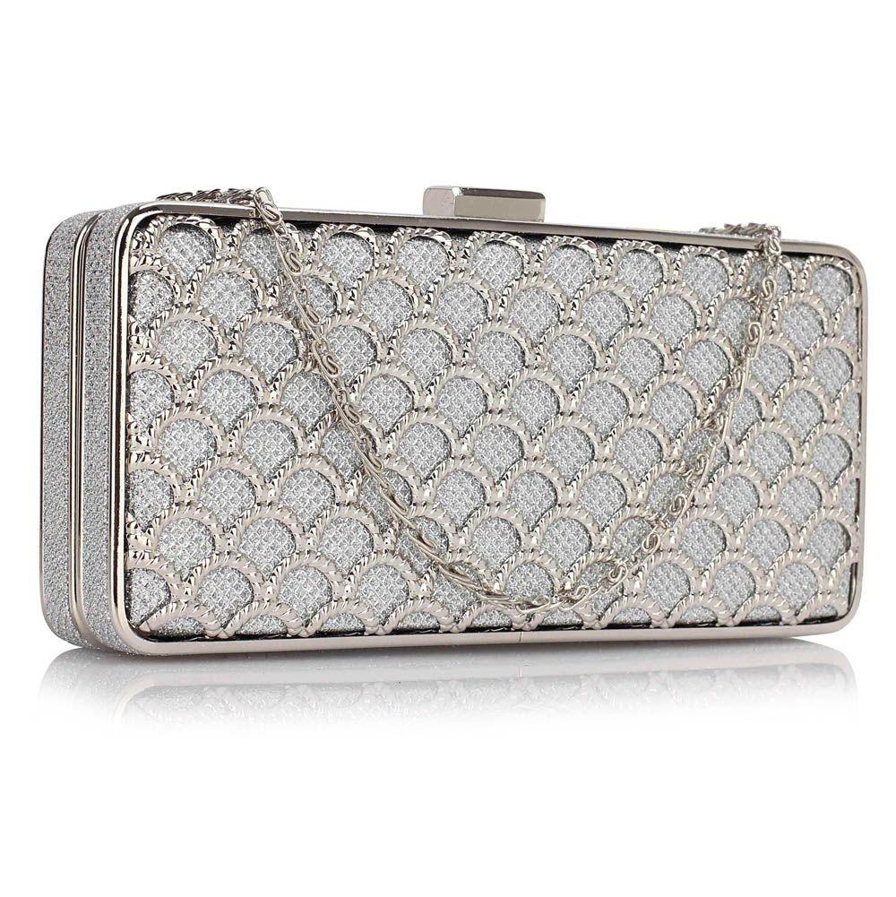 Dámska listová kabelka LS Fashion Amelia - strieborná