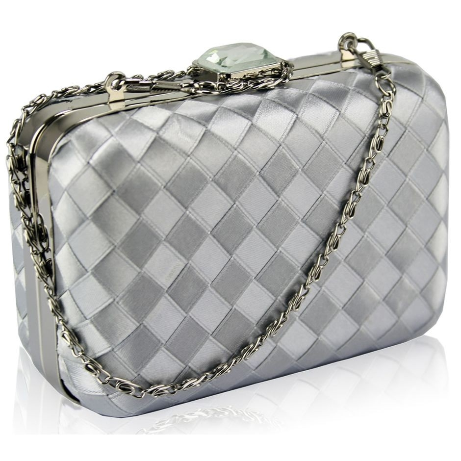 Dámska listová kabelka LS Fashion Rosie - strieborná
