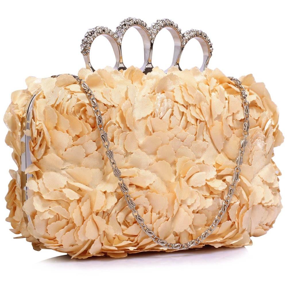 Dámska listová kabelka LS Fashion Flower- nude