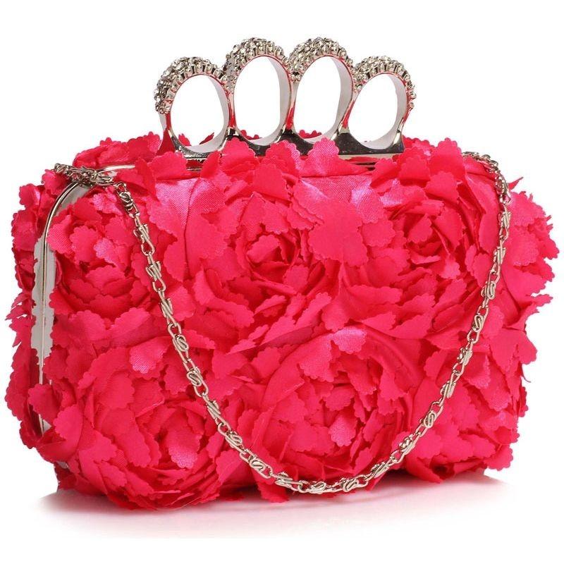 Dámska listová kabelka LS Fashion Flower- ružová