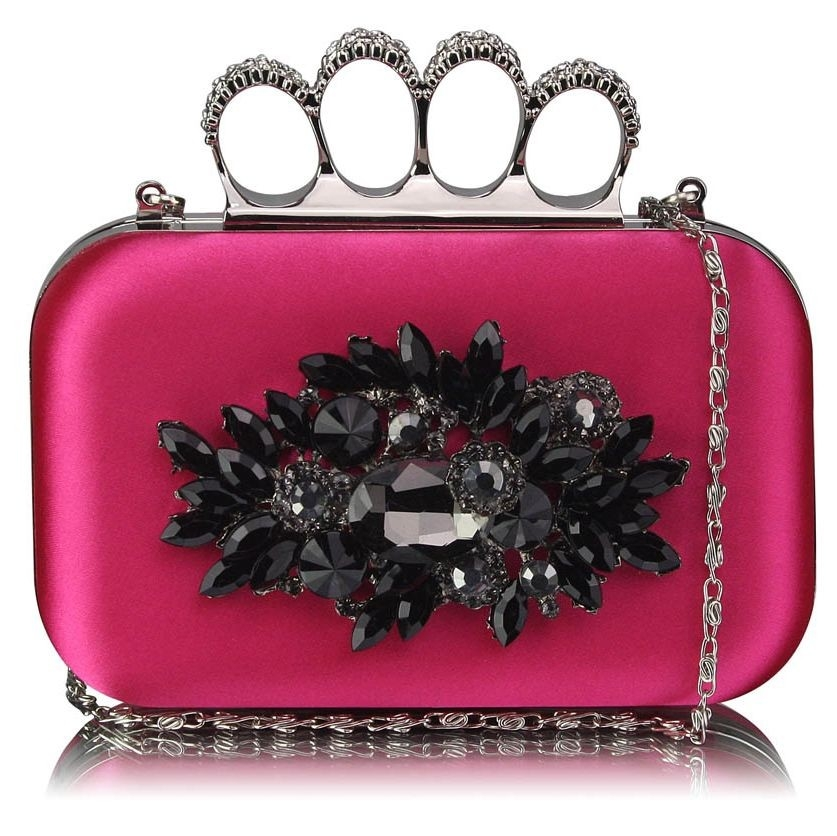 Dámska listová kabelka LS Fashion Crystal- ružová