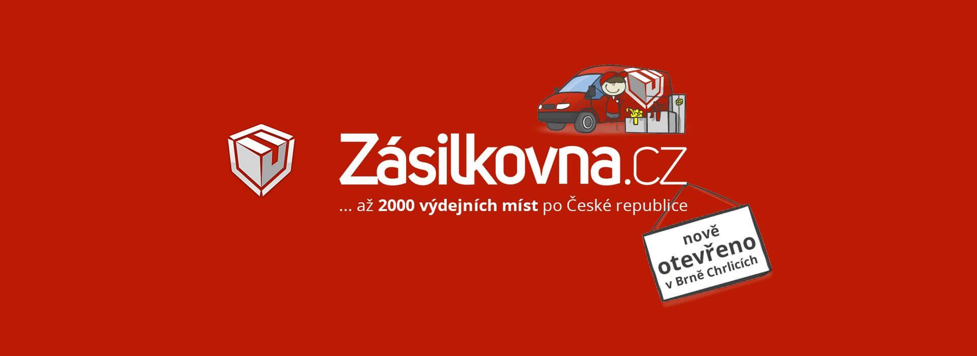 Banner o otevření nové pobočky Zásilkovny v naší hale.